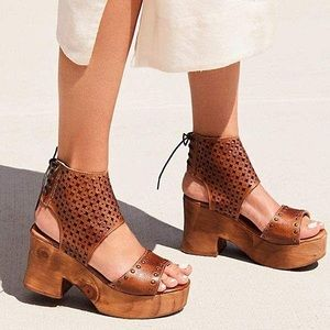 Free People bed Stu Mollie platform clog Sz 9.5
